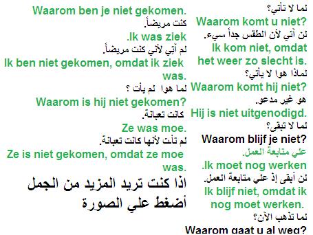 جمل في الحاضر و الماضي كتير مهمة في اللغة الهولندية