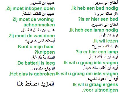 جمل جديدة و شائعة باللغة الهولندية