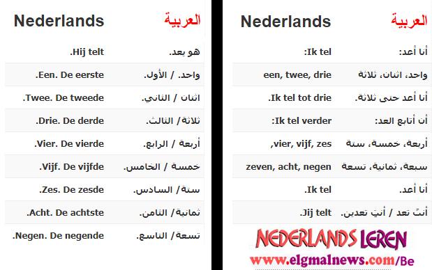 الدرس السابع - الأعداد - في دورة تعليم اللغة الهولندية للمبتدئين