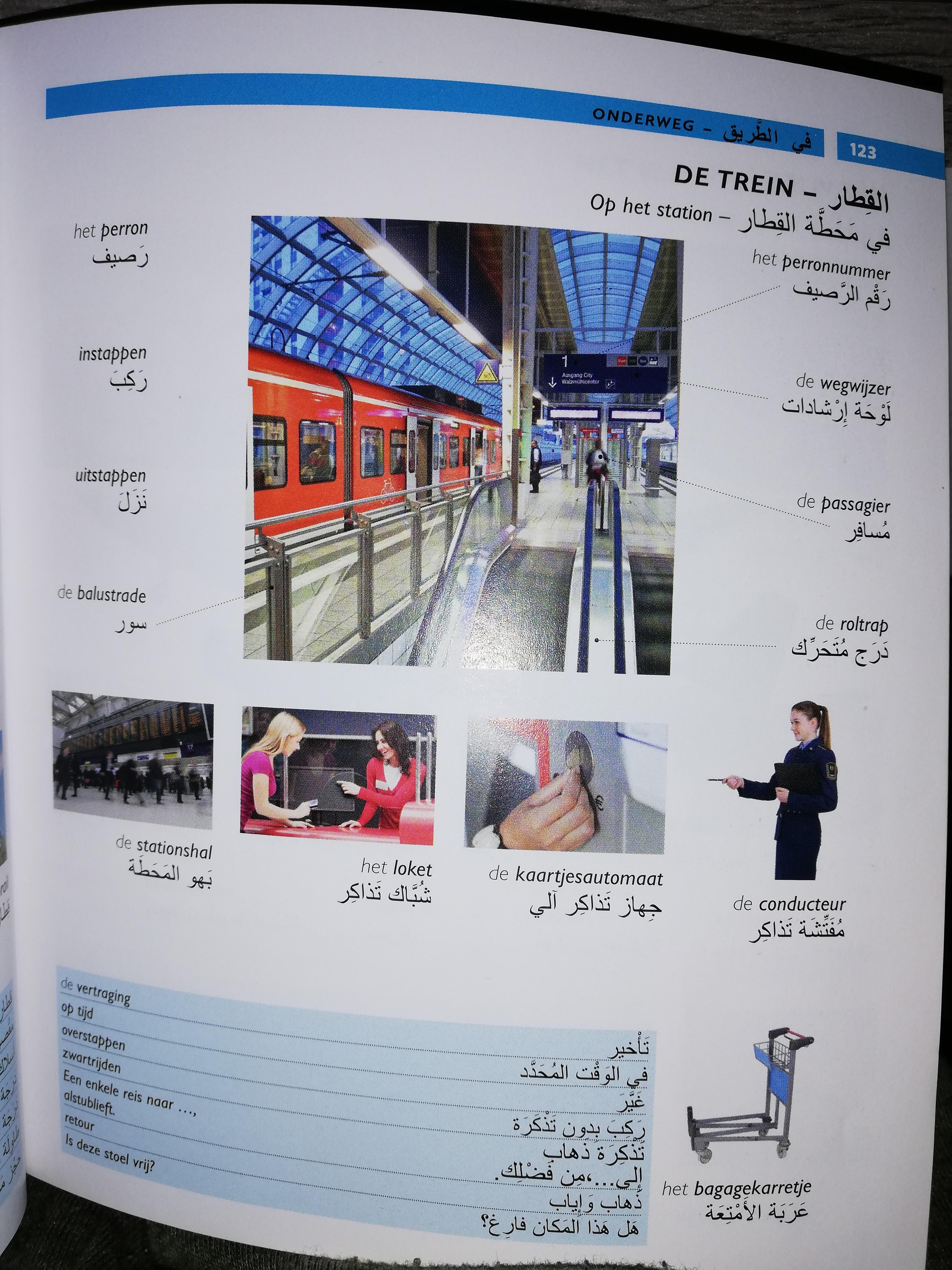 كلمات هولندية تستخدمها في محطة القطار DE TREIN
