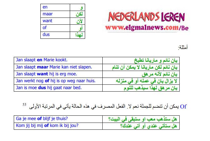 23 - ربط الجمل الأساسية في اللغة الهولندية