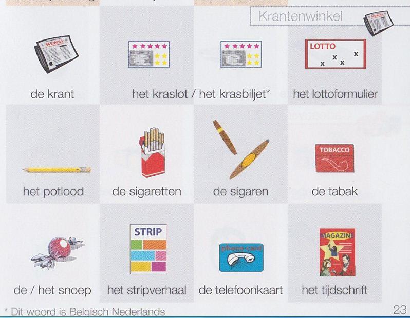 كلمات تستخدم في متجر الصحف في الهولندية 2020
